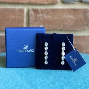 NWT Swarovski Crystal Drop Earrings
